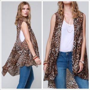 Leopard Print Kimono! 🐆 see all pics!
